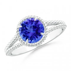 Tanzanite Twist Rope Split Shank Ring