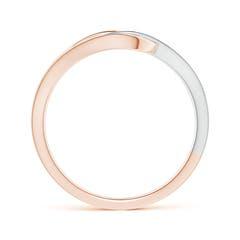 Toggle Pave Set Diamond Interlocking Loop Two Tone Ring