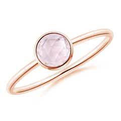 Bezel Set Round Morganite Stackable Ring