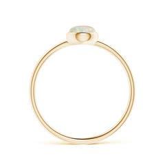 Bezel Set Round Opal Stackable Ring