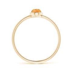 Toggle Classic Bezel-Set Oval Citrine Ring