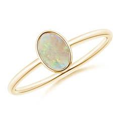 Classic Bezel-Set Oval Opal Ring