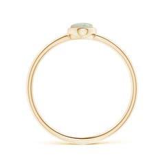 Toggle Classic Bezel-Set Oval Opal Ring
