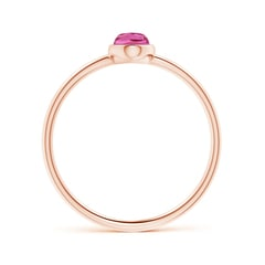 Toggle Classic Bezel-Set Oval Pink Tourmaline Ring