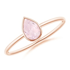 Pear-Shaped Morganite Solitaire Ring