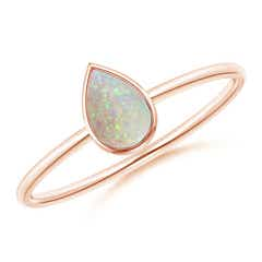 Pear-Shaped Opal Solitaire Ring