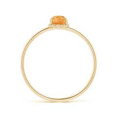 Toggle Classic Oval Citrine Ring with Beaded Halo