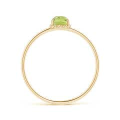 Toggle Classic Oval Peridot Ring with Beaded Halo