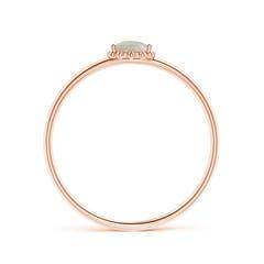 Toggle Pear-Shaped Opal Beaded Halo Ring