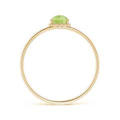 Toggle Pear-Shaped Peridot Beaded Halo Ring