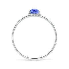 Toggle Pear-Shaped Tanzanite Beaded Halo Ring