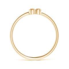 Toggle Bezel Set Citrine Trio Cluster Stackable Ring