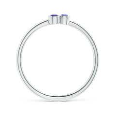 Toggle Bezel Set Tanzanite Trio Cluster Stackable Ring