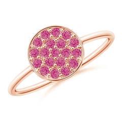 Angara Classic Pink Tourmaline Triple Cluster Ring in Rose Gold in Rose Gold sxtQRRU