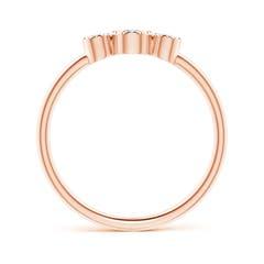Toggle Bezel-Set Round Diamond Three Stone Ring
