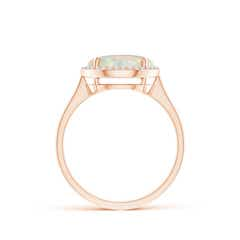 Toggle Round Opal Cocktail Ring with Diamond Halo