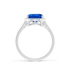 Toggle GIA Certified Pear Sri Lankan Sapphire Cocktail Ring