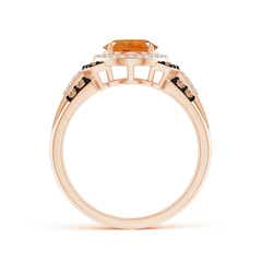 Toggle Vintage Style Citrine Halo Cocktail Ring