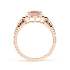 Toggle Vintage Style Morganite Halo Cocktail Ring