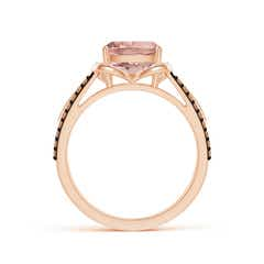 Toggle Cushion Morganite Celtic Knot Cocktail Ring