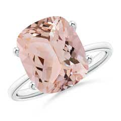 Prong Set Cushion Morganite Cocktail Ring