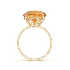 Toggle Claw-Set Round Citrine Cocktail Ring