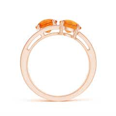 Toggle Round Citrine Three Stone Multi Row Ring