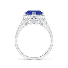Toggle Trillion Tanzanite Cocktail Ring with Diamond Accents