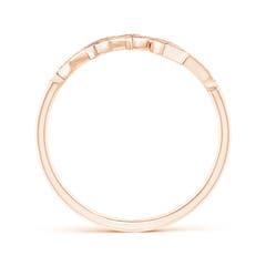 Toggle Pave Set Pink Sapphire Olive Leaf Vine Ring