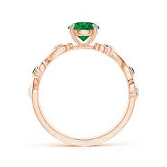 Toggle Emerald and Diamond Ivy Scroll Ring