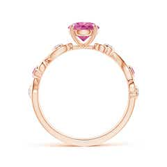 Toggle Pink Sapphire and Diamond Ivy Scroll Ring