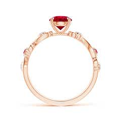 Toggle Ruby and Diamond Ivy Scroll Ring