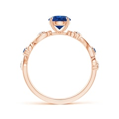 Toggle Blue Sapphire and Diamond Ivy Scroll Ring