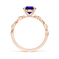 Toggle Tanzanite and Diamond Ivy Scroll Ring
