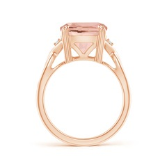 Toggle Cushion Morganite Crossover Ring with Diamond Accents