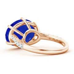 Toggle East-West GIA Certified Oval Tanzanite Solitaire Ring