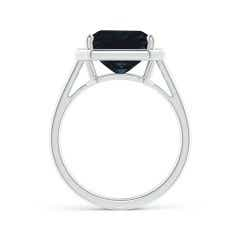 Toggle GIA Certified Octagon Sapphire Cathedral Style Ring