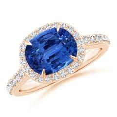 Angara GIA Certified Sri Lankan Sapphire Split Shank Ring joHcB1WCy