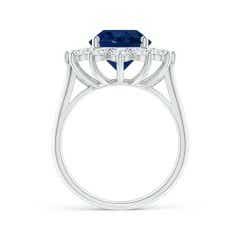 Toggle Classic GIA Certified Oval Sapphire Sunflower Ring