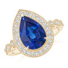 Angara GIA Certified Pear Sri Lankan Sapphire Cocktail Ring PVjfovValp