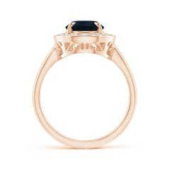 Toggle Vintage Style GIA Certified Pear-Shaped Sapphire Halo Ring