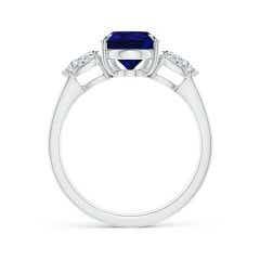 Toggle GIA Certified Pear-Shaped Blue Sapphire Ring with Diamonds