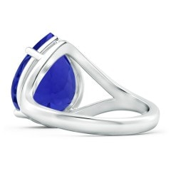 Toggle Pear GIA Certified Tanzanite Split Shank Ring