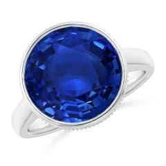 Bezel-Set GIA Certified Sri Lankan Sapphire Solitaire Ring
