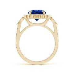 Toggle Vintage Style GIA Certified Sri Lankan Sapphire Floral Ring