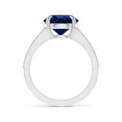 Toggle Classic GIA Certified Sapphire Solitaire Ring with Milgrain