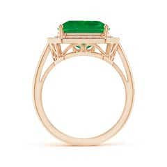 Toggle GIA Certified Octagonal Emerald Ring with Diamonds