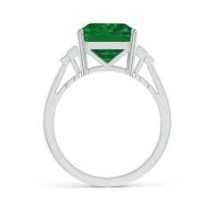 Toggle GIA Certified Emerald Ring with Baguette Diamonds