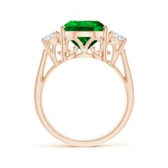 Toggle GIA Certified Pear Colombian Emerald Ring with Diamonds