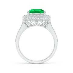 Toggle GIA Certified Pear-Shaped Emerald Ring with Filigree